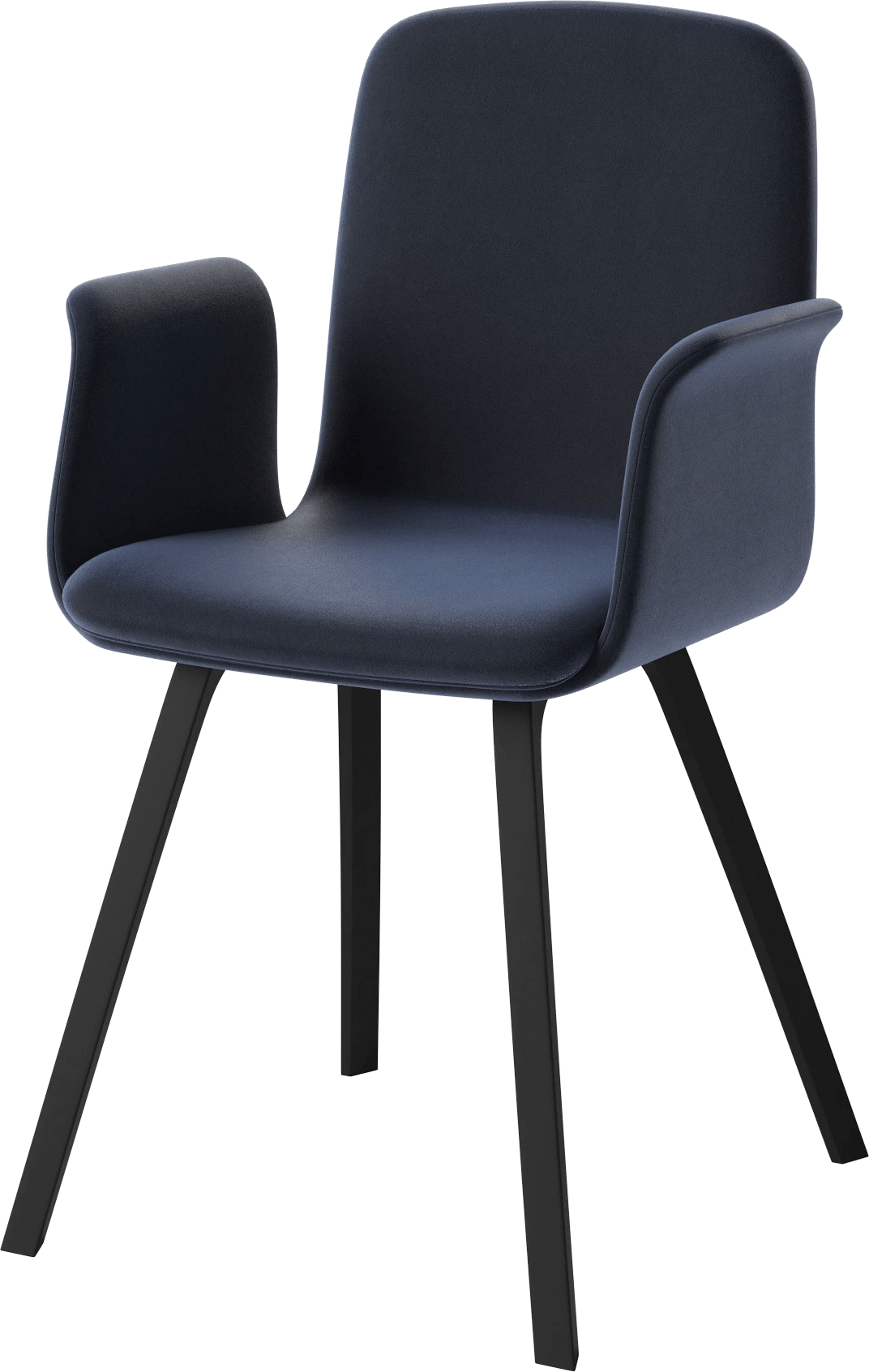 bolia blue velvet palm dining chair with arms haute living