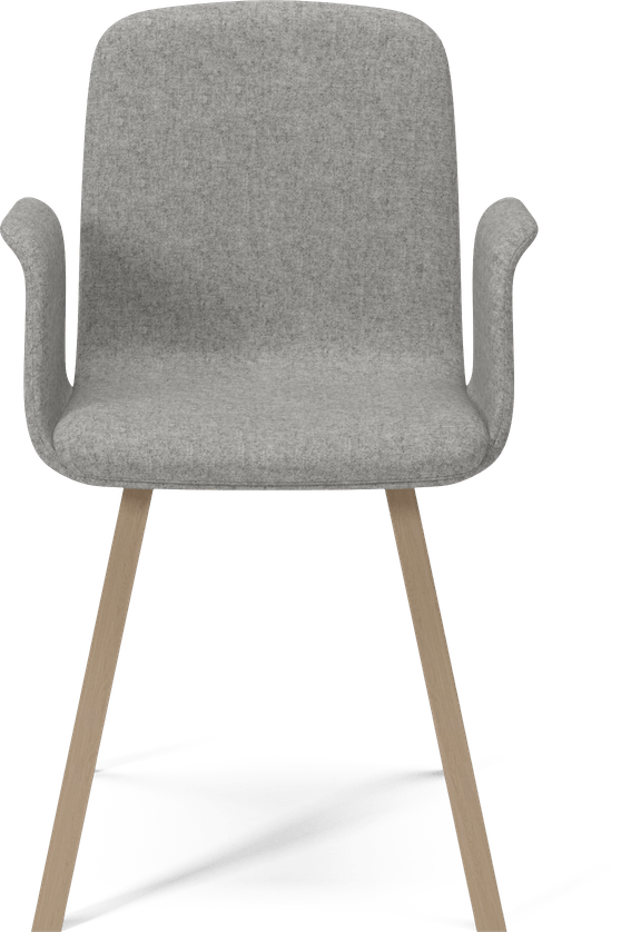 bolia grey palm dining chair with arms haute living