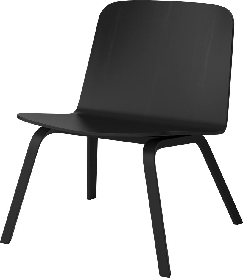 bolia black palm lounge chair haute living