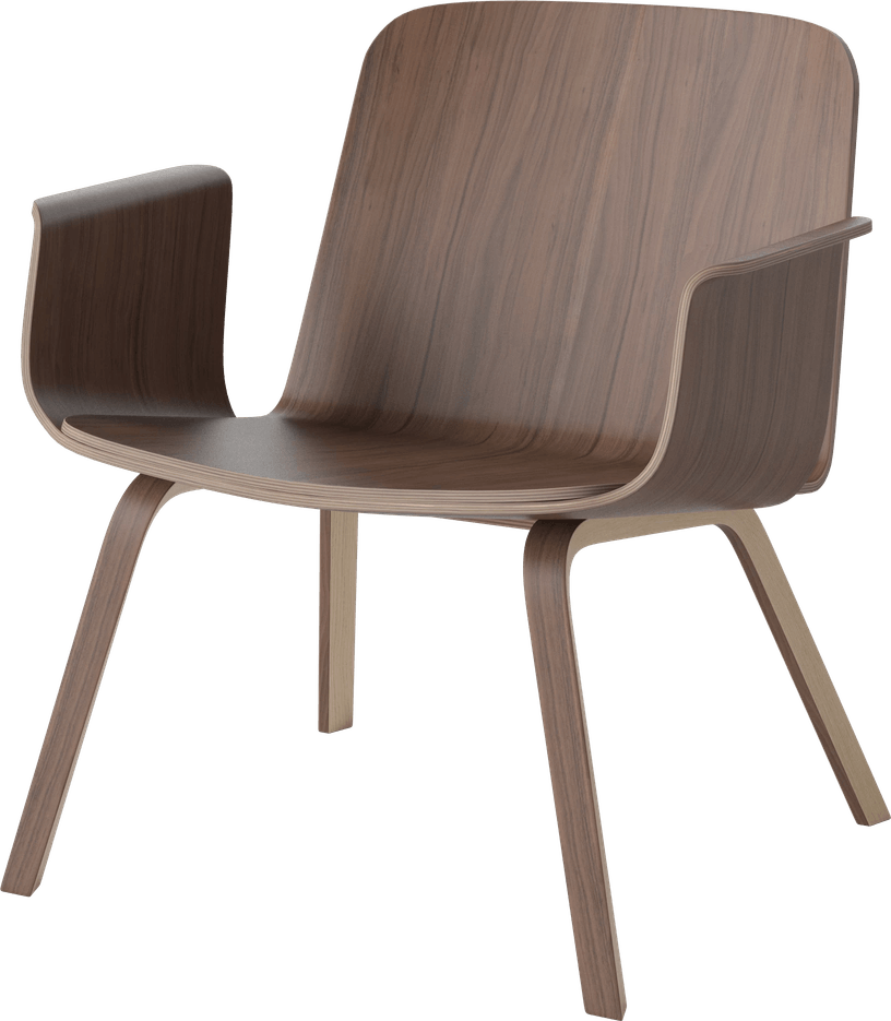 bolia dark wood palm lounge chair haute living