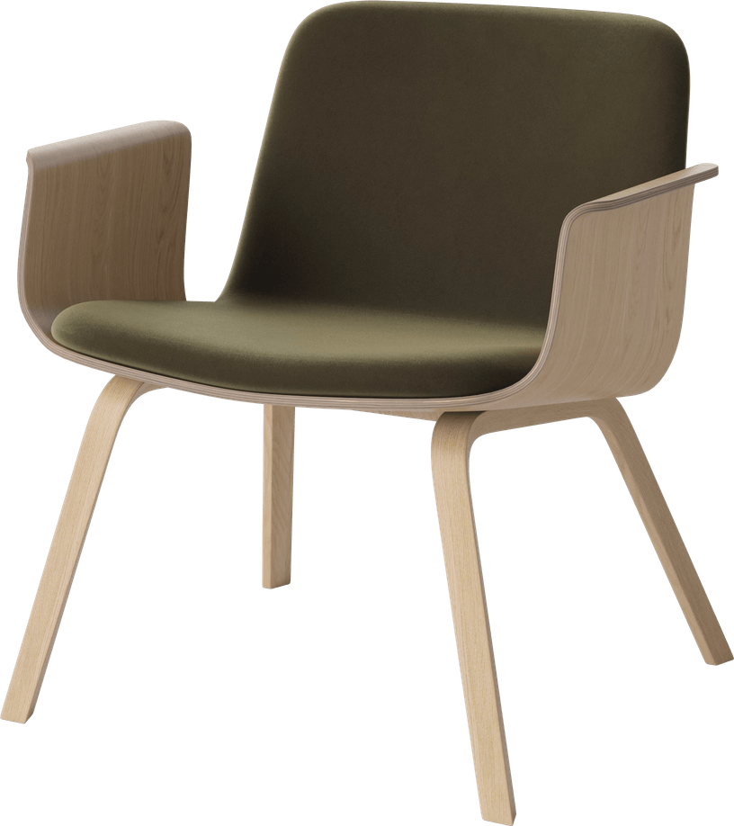 bolia green velvet palm lounge chair haute living