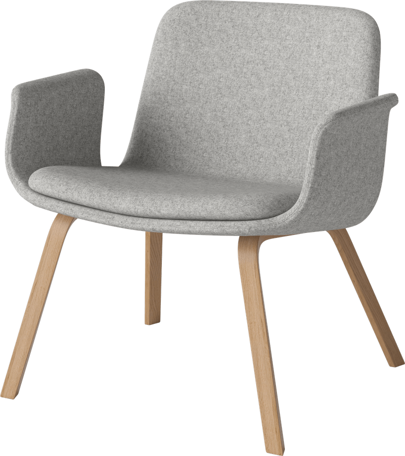 bolia grey palm lounge chair haute living