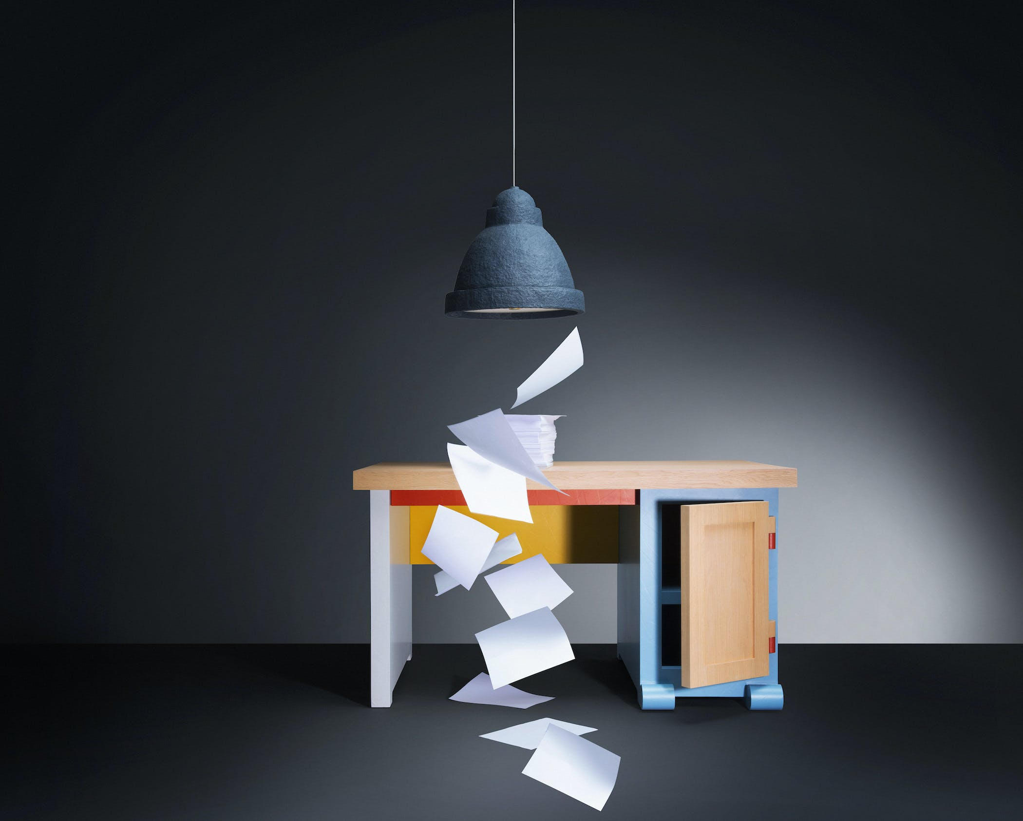 Patchwork Paper Desk 1
