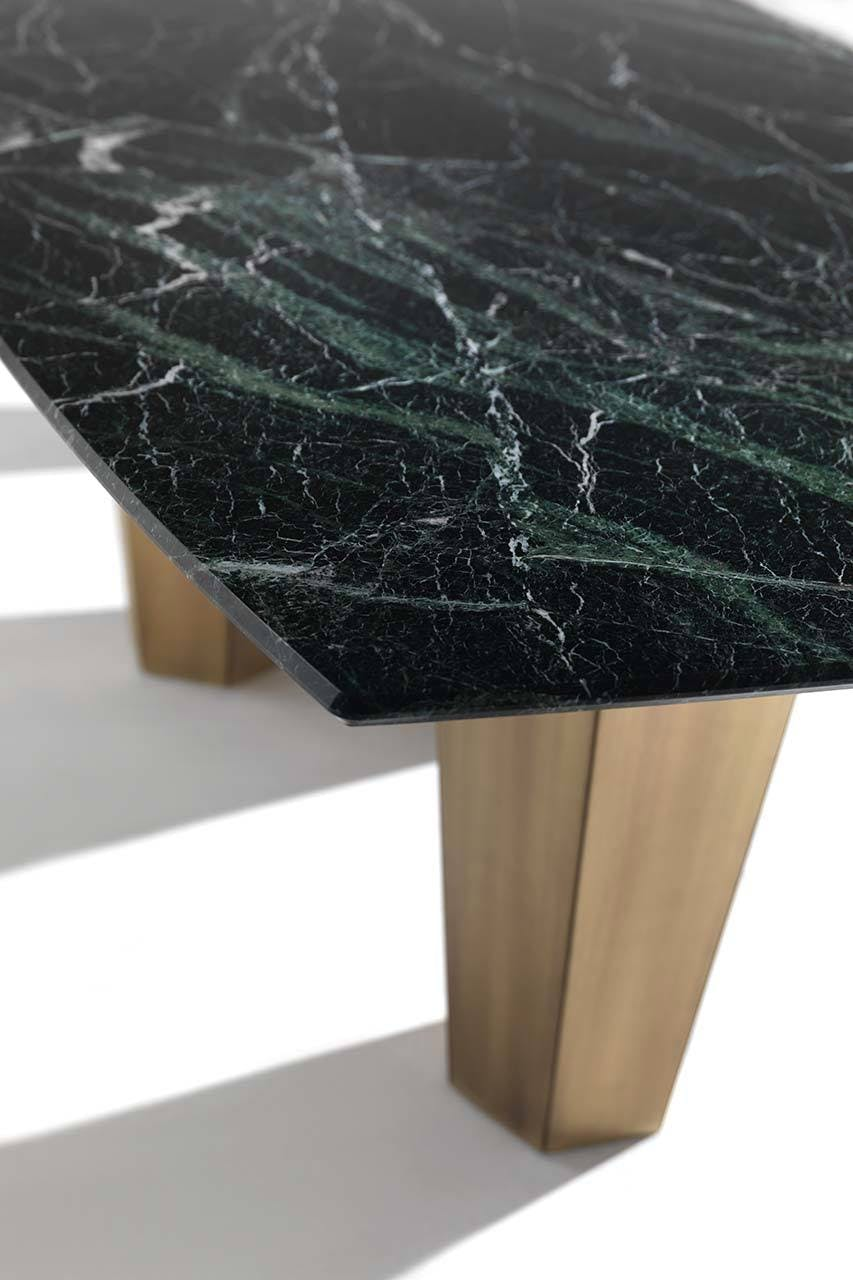 Frigerio Green Marble Top Dining Table Haute Living