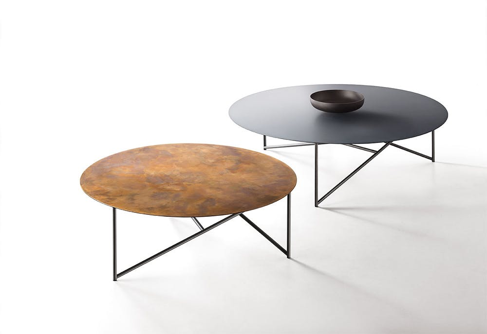 De Castelli Parsec Table Table Top Copper Black Haute Living