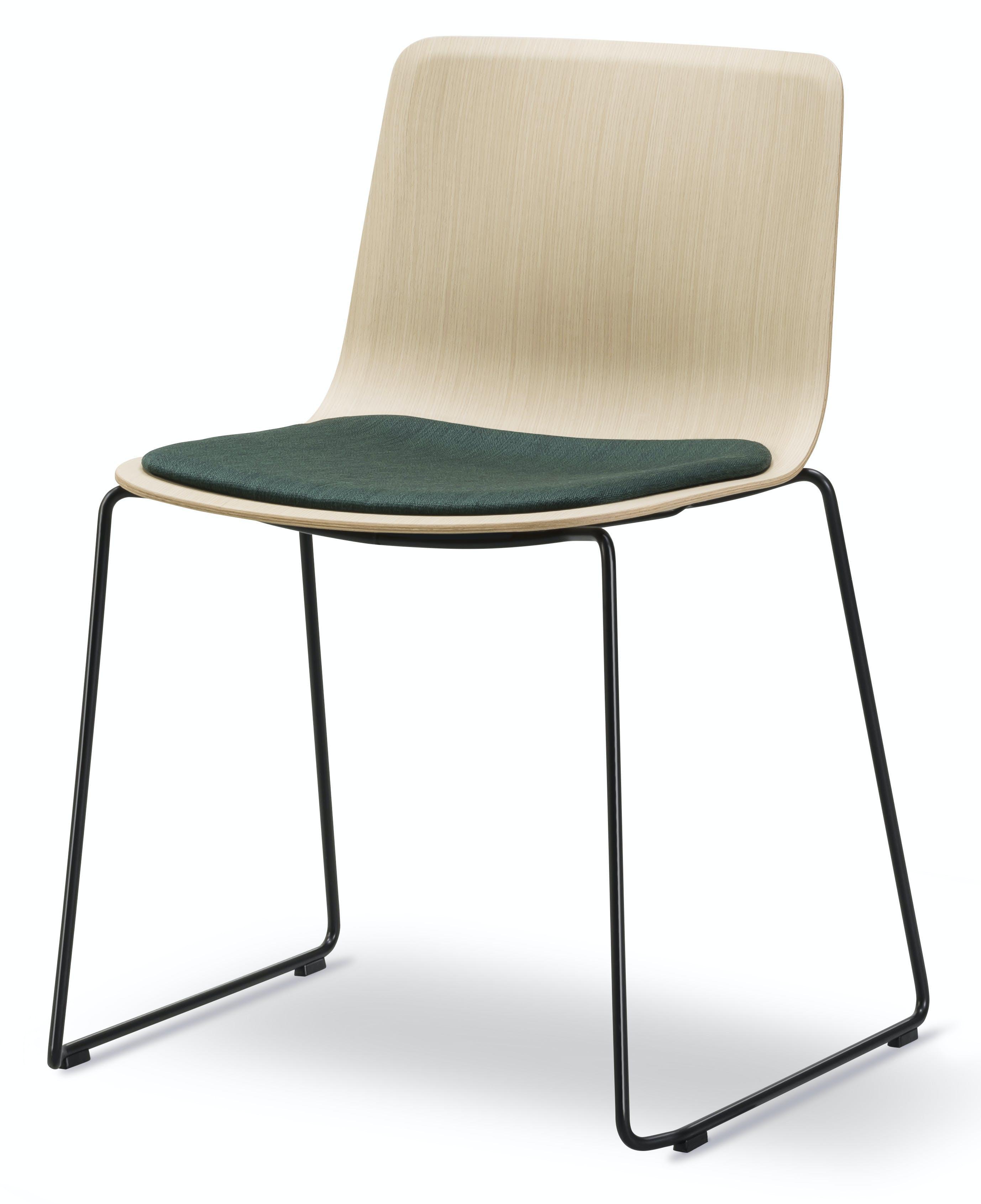 Fredericia Pato Sledge Chair Veneer Angle Haute Living