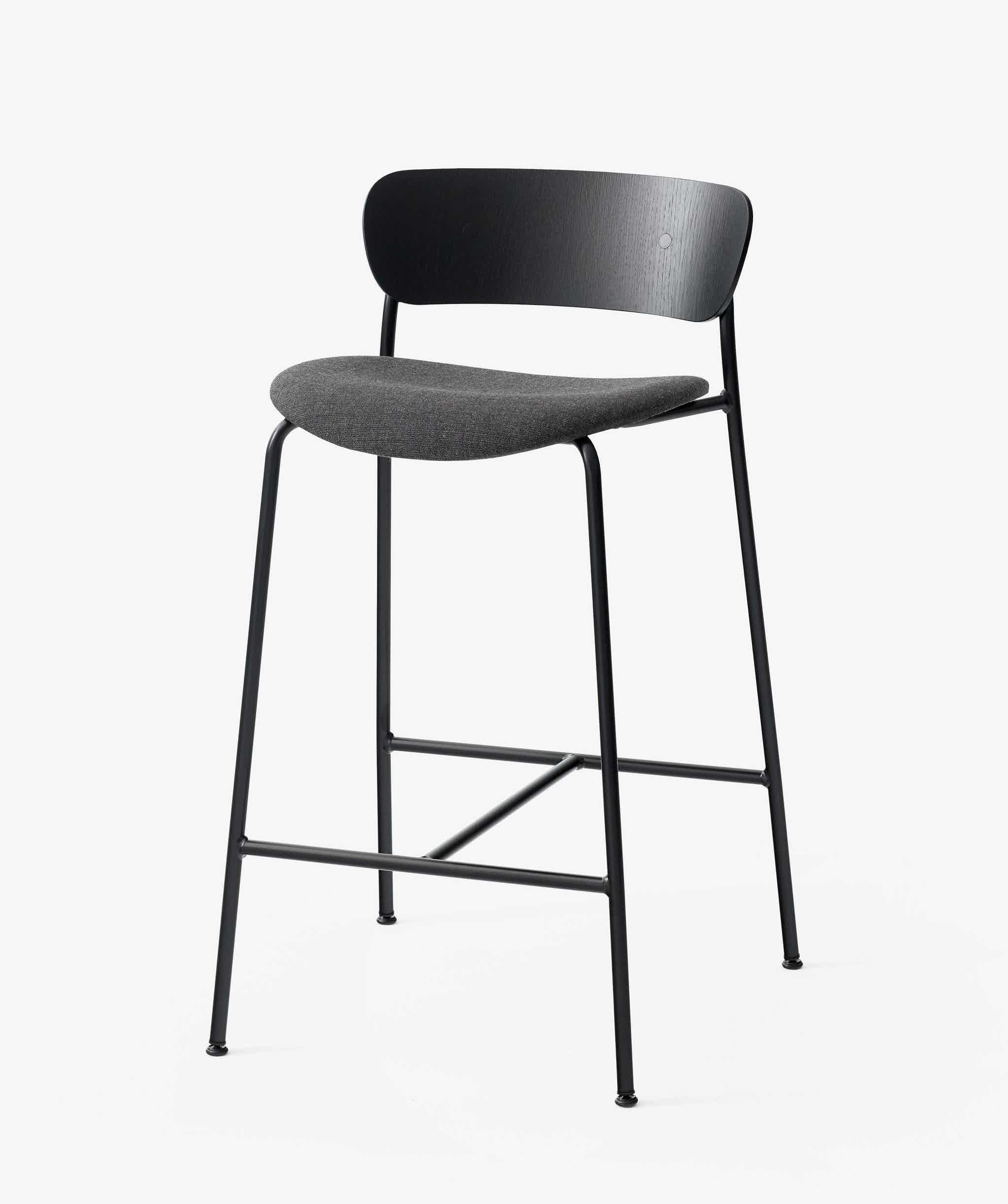 Andtradition Pavilion Stool Canvas Upholstered Seat Haute Living