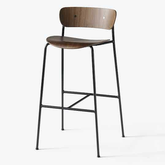 Tradition Pavilion Stool Av9 Walnut Haute Living