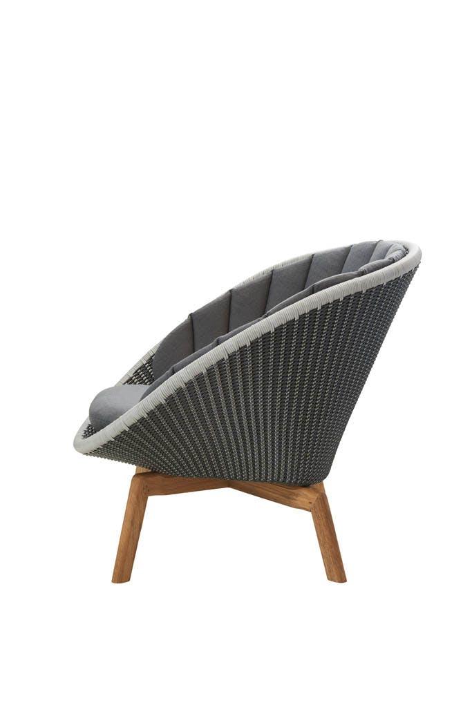 Peacock Lounge Chair Grey Teak Ysn95 Side
