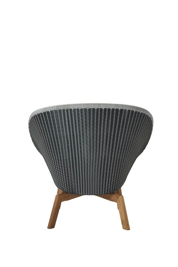 Peacock Lounge Chair Grey Teak Back 1