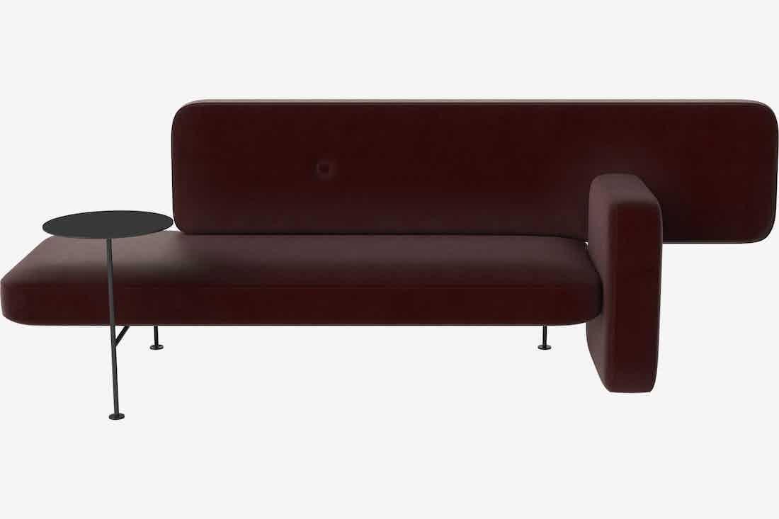 Bolia velvet pebble sofa haute living