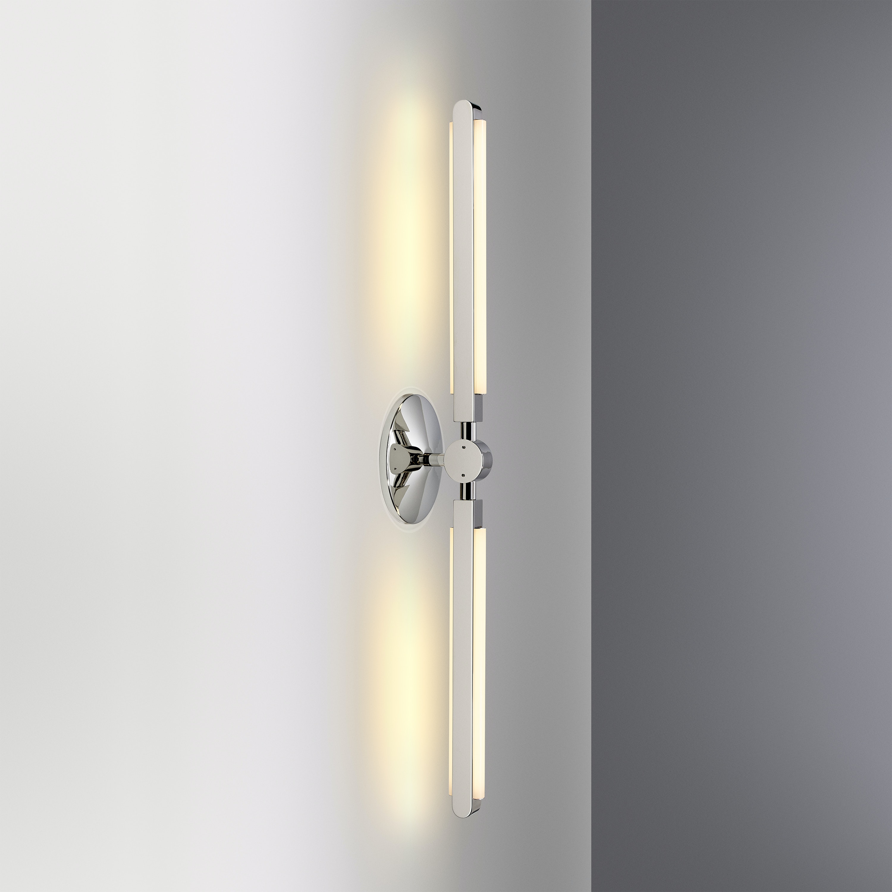 01 Pris Linear Sconce Polished Nickel