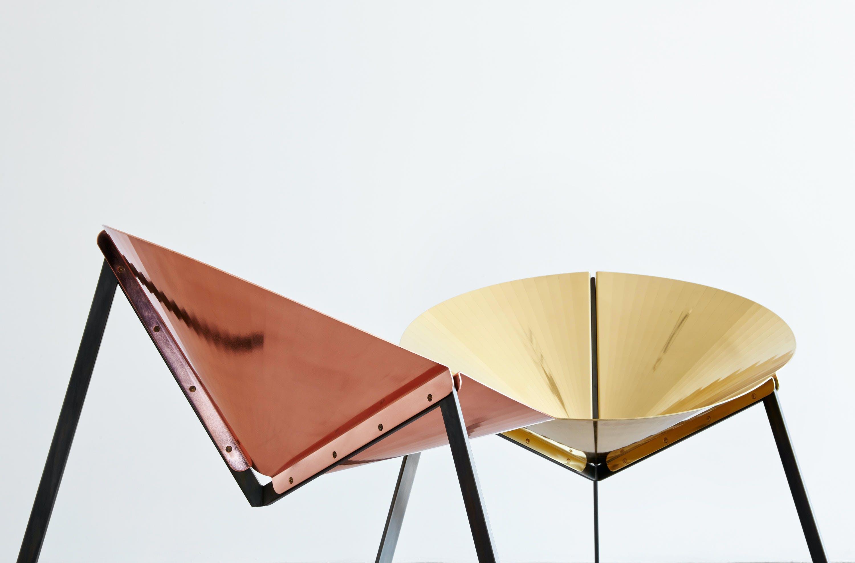 De Castelli Pensando Ad Acapulco Chair Gold Copper Angle Haute Living