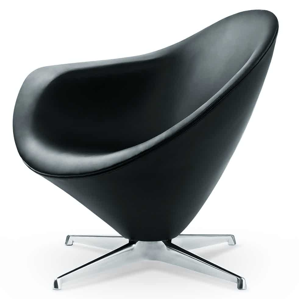 Engelbrechts petit plateau lounge chair black haute living