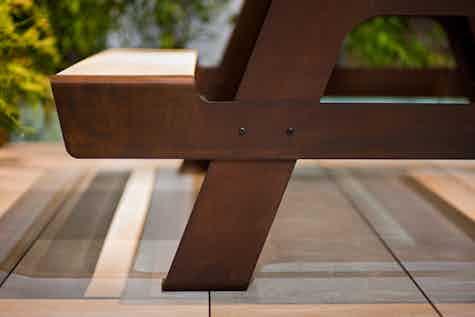De Castelli Pic Nic Table Detail Haute Living