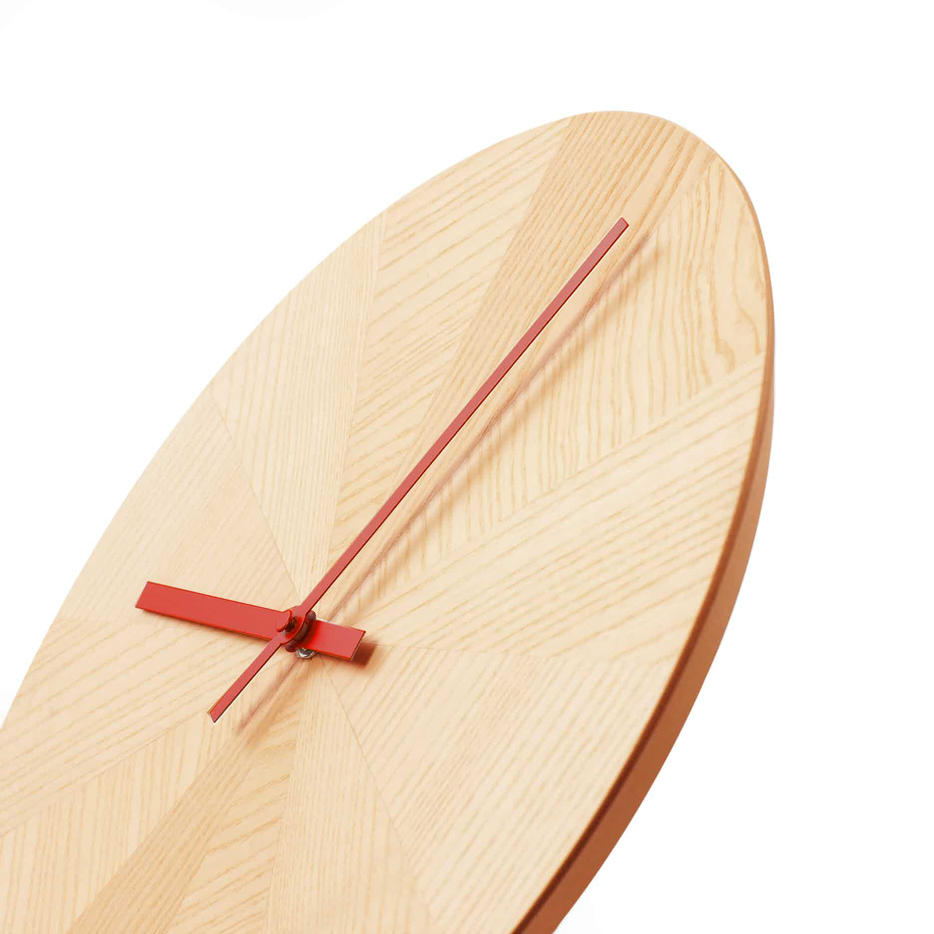 Discipline Pieces Of Time Clock Red Hands Detail