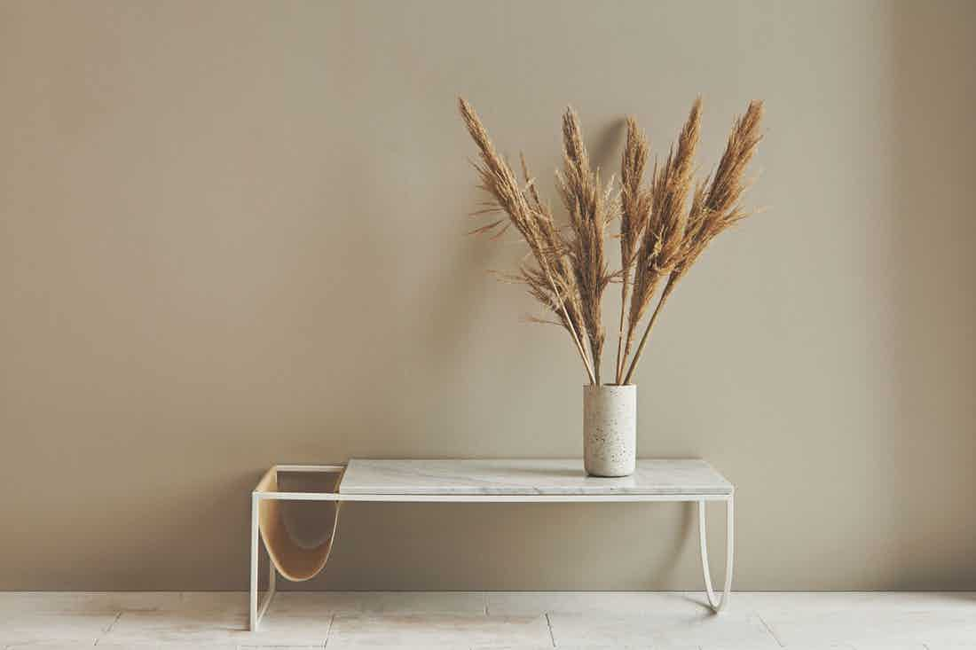 Bolia piero white marble coffee table insitu haute living