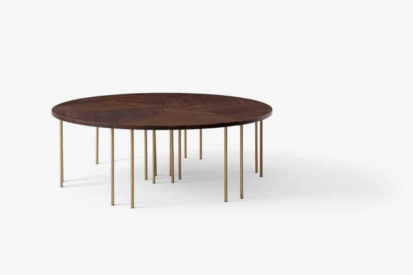 Andtradition pinwheel table hm7 walnut group haute living