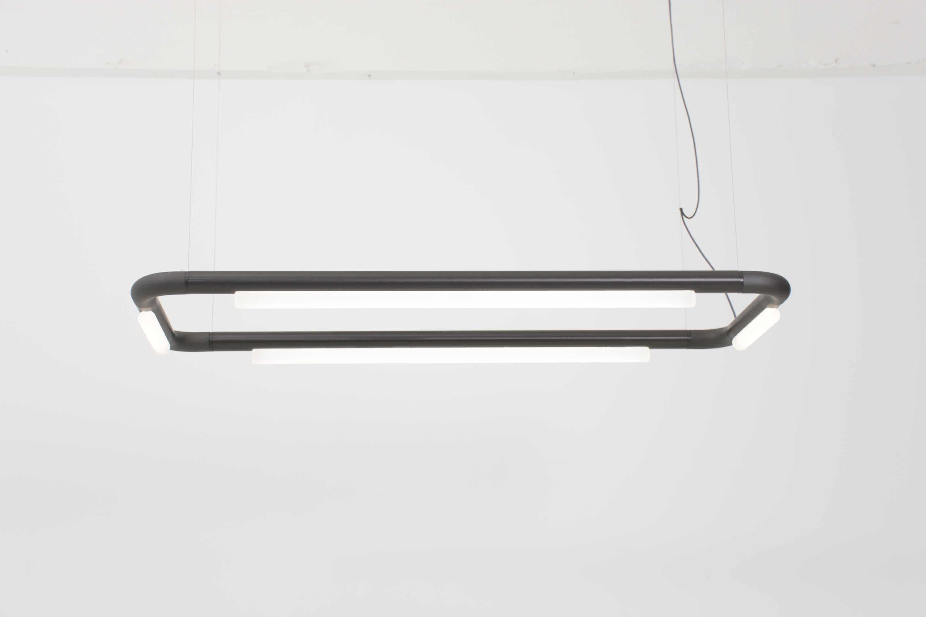 Andlight Black Led Hanging Pipeline Cm4 Light Haute Living