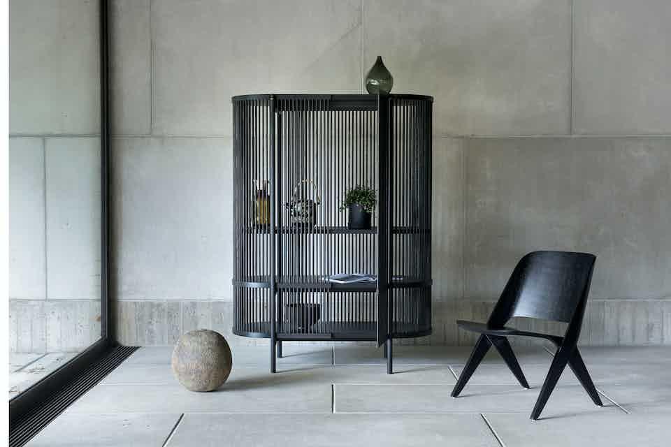 Poiat bastone black oak cabinet insitu haute living