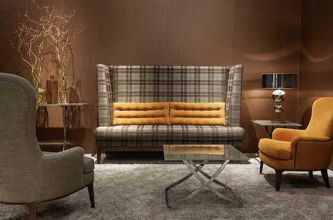 Jab Anstoetz Check Polo Dining Sofa Insitu Haute Living