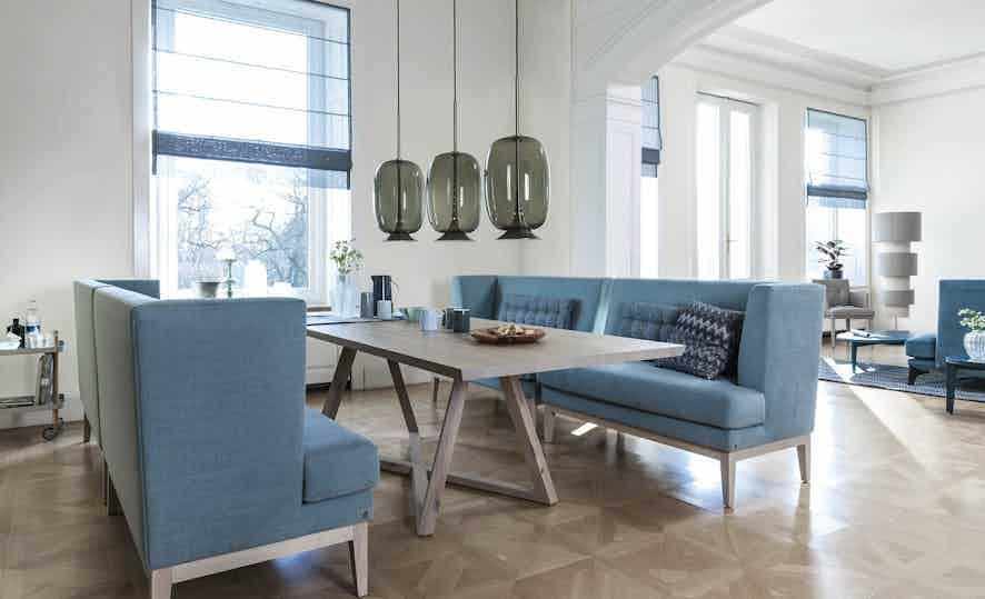 Jab Anstoetz Polo Dining Sofa Blue Insitu Haute Living