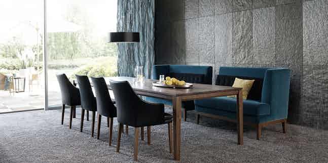 Jab Anstoetz Velvet Polo Dining Sofa Insitu Haute Living
