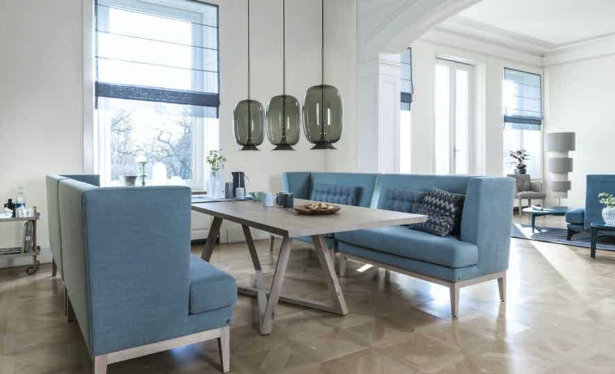 Jab Anstoetz Polo Dining Table With Sofas Insitu Haute Living