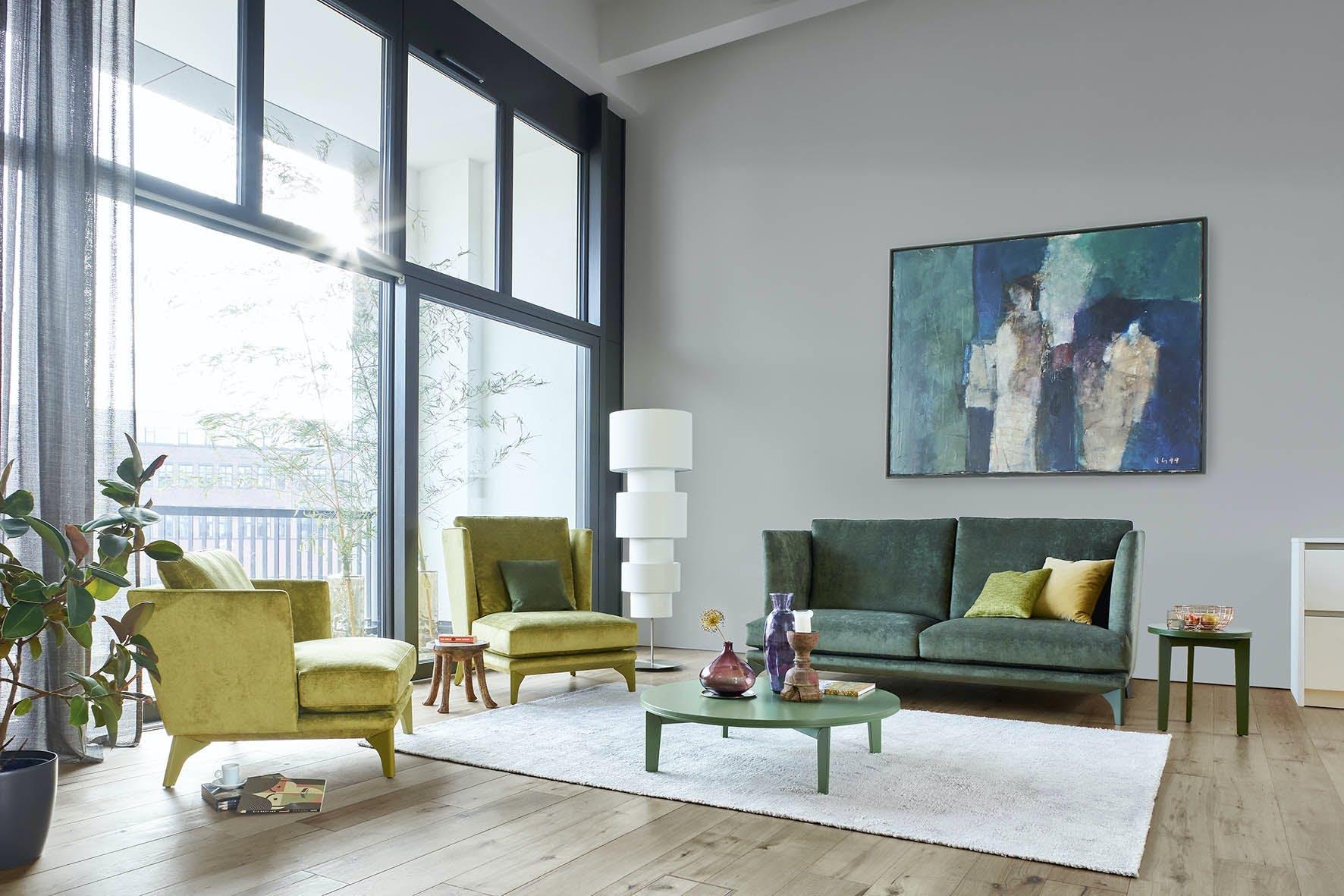 Jab Anstoetz Green Polo Lounge Sofa Insitu Haute Living