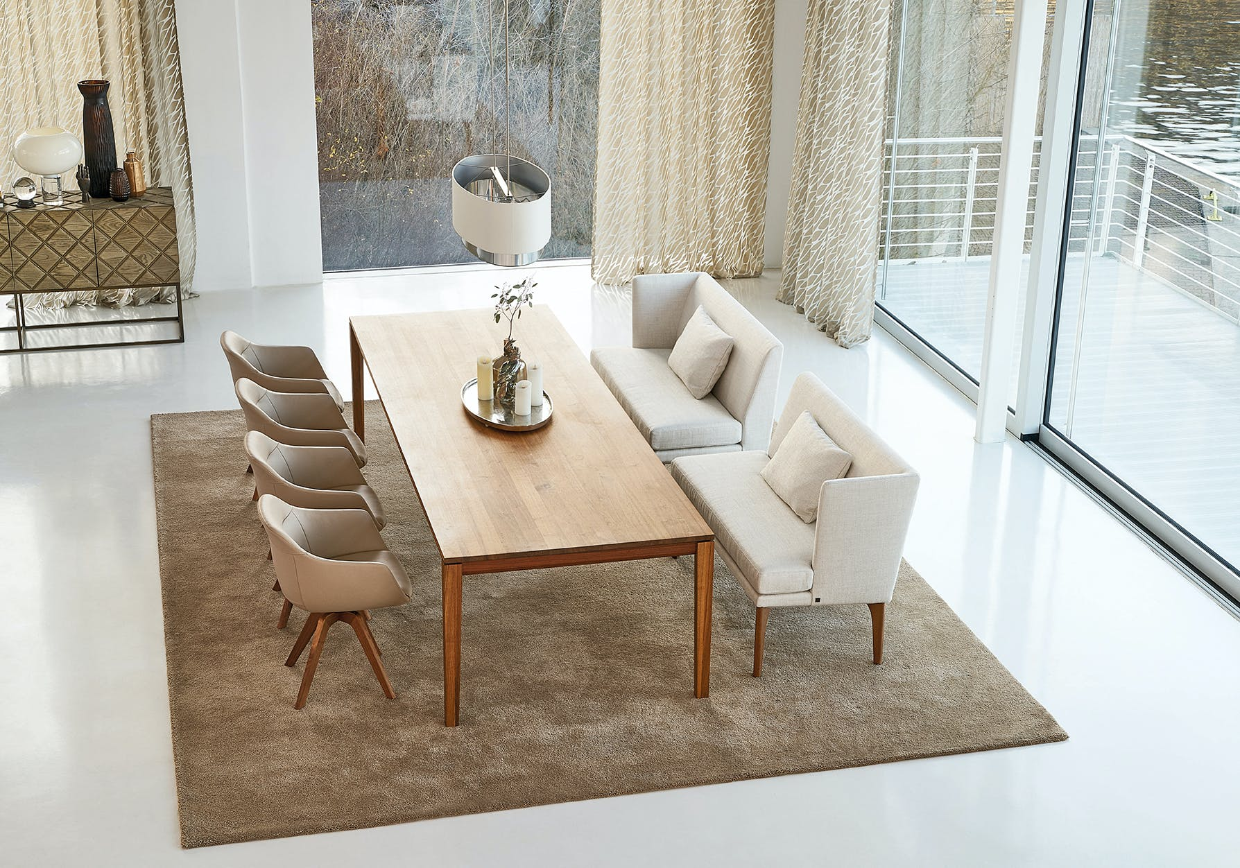Jab Anstoetz Polo Petite Sofa Dining Insitu Haute Living