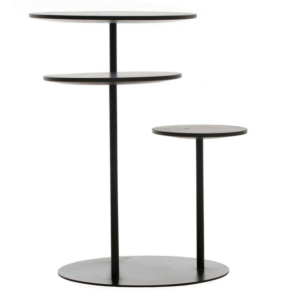 De La Espada Autoban Poly Side Table Black Haute Living