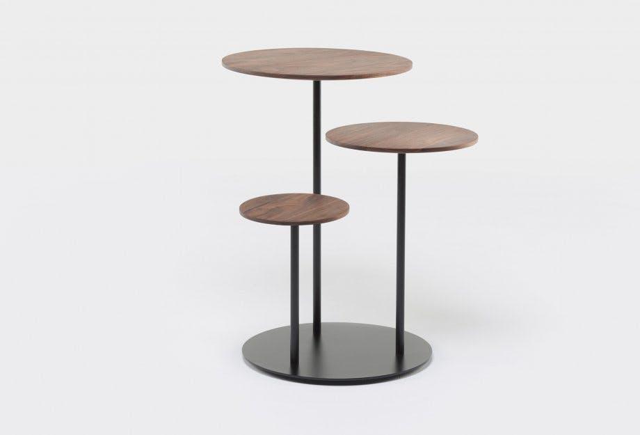 De La Espada Autoban Poly Side Table Walnut Haute Living