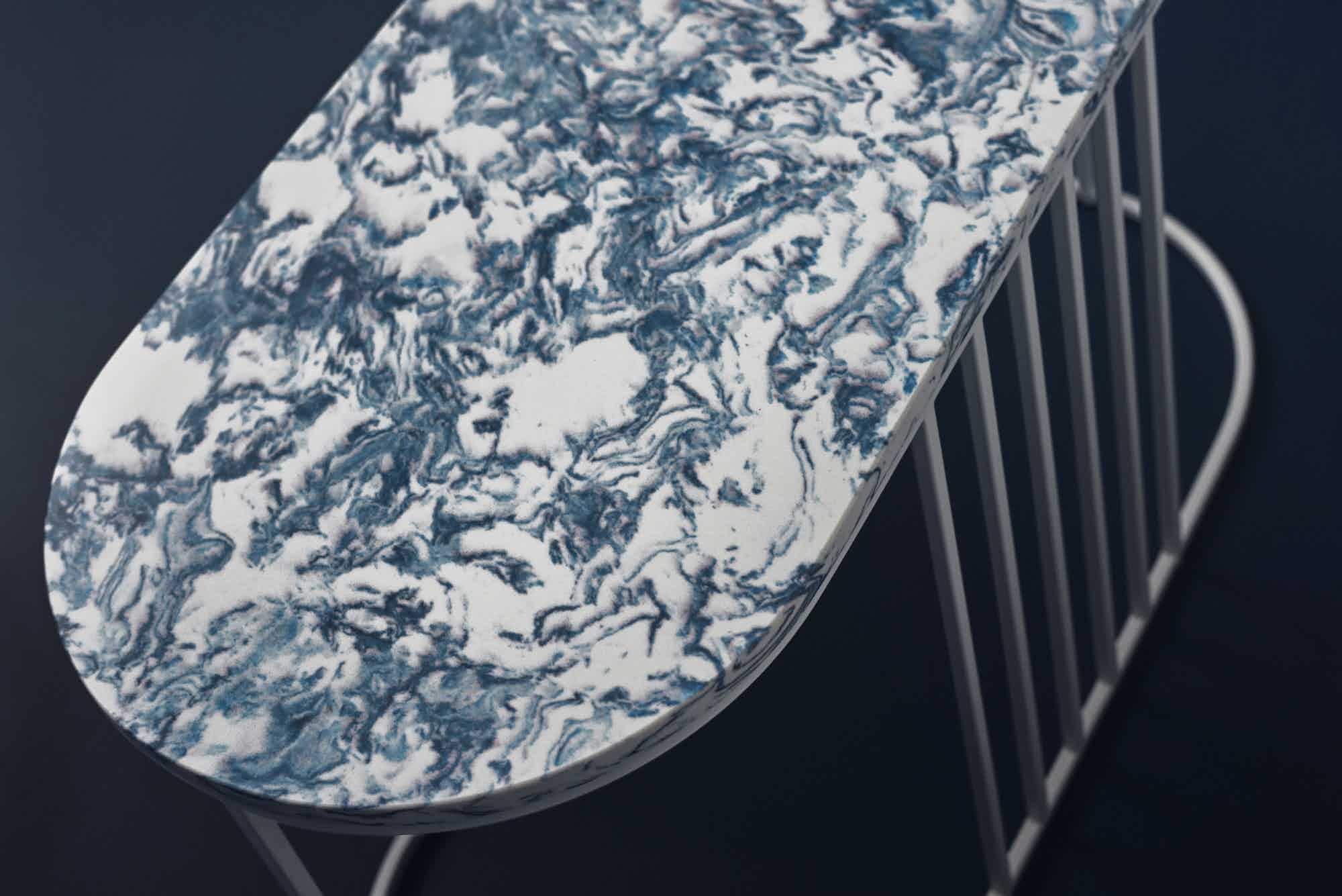 bolia posea side table resin detail haute living