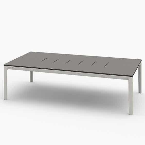 Bensen outdoor able table grey haute living