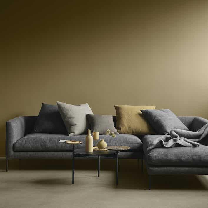 Wendelbo blade sofa yellow haute living
