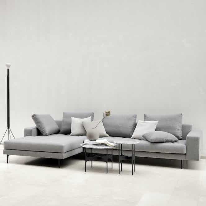 Wendelbo grey campo sofa insitu haute living