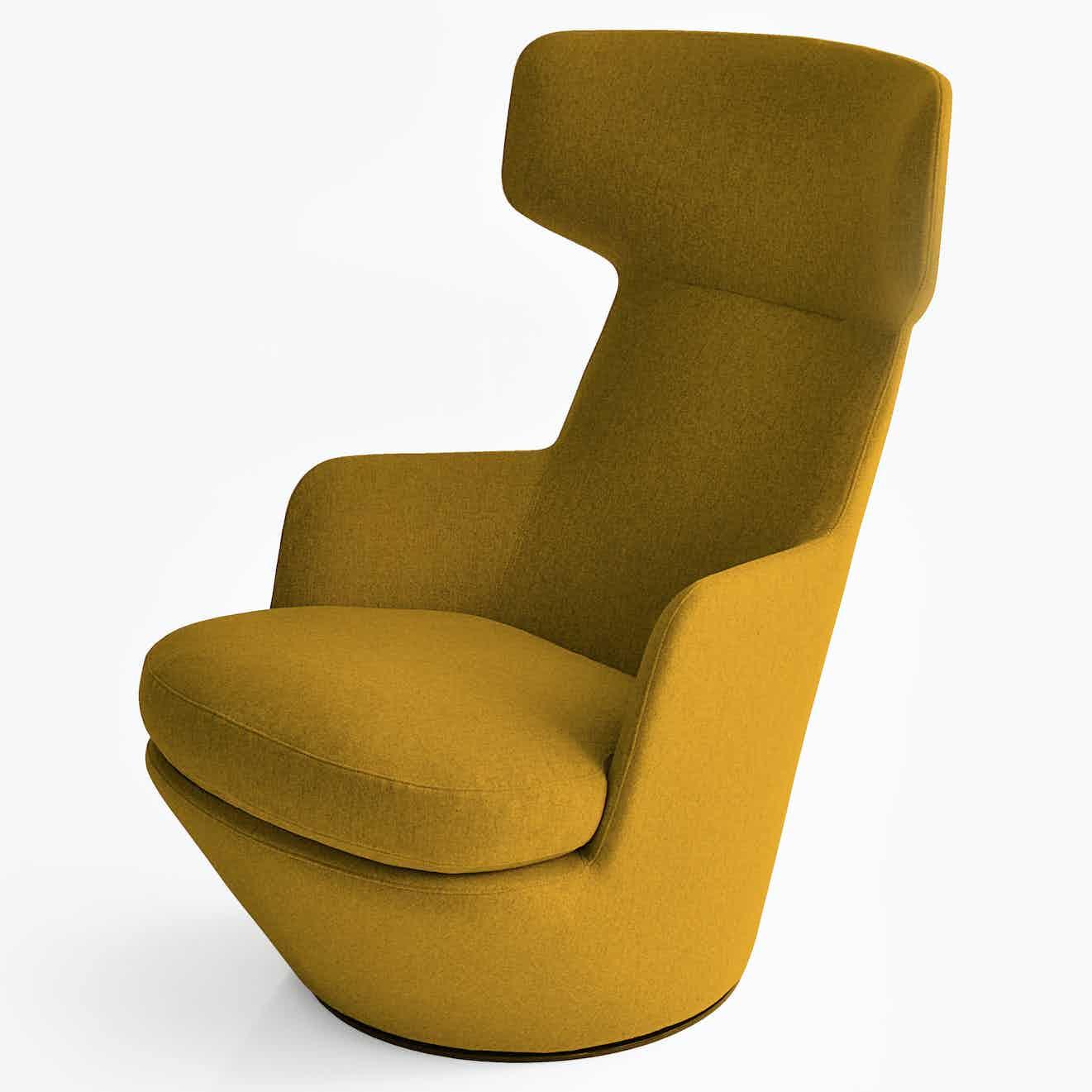 Bensen furniture my turn chair yellow haute living