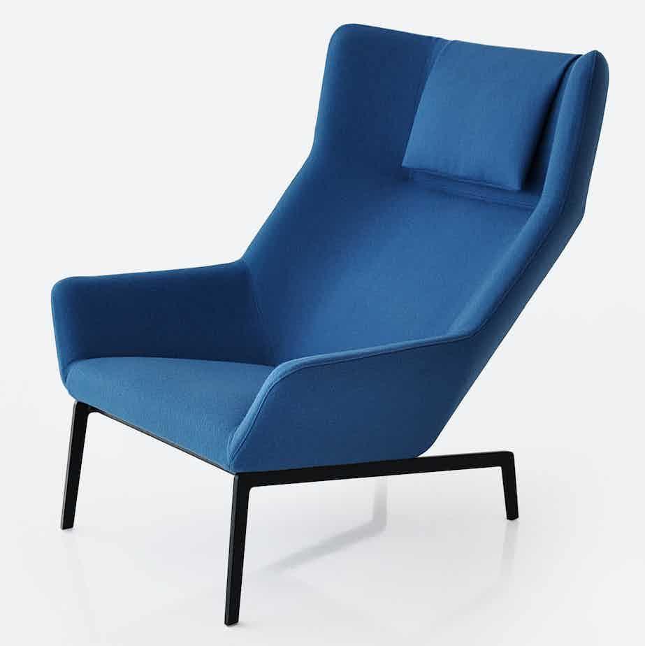 Bensen park chair blue haute living