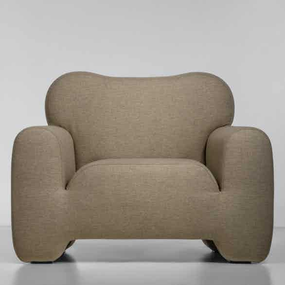 Faina pampukh armchair front haute living