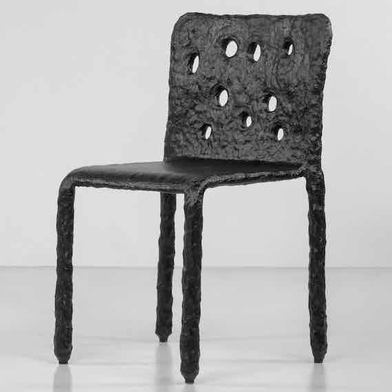 Faina design ztista chair black angle haute living