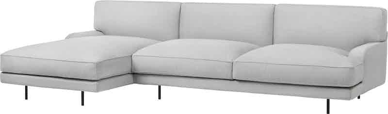 Gubi flaneur sofa grey chaise haute living