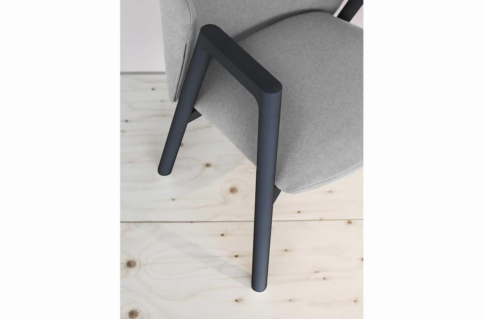 Bensen Grey Pub Chair Detail