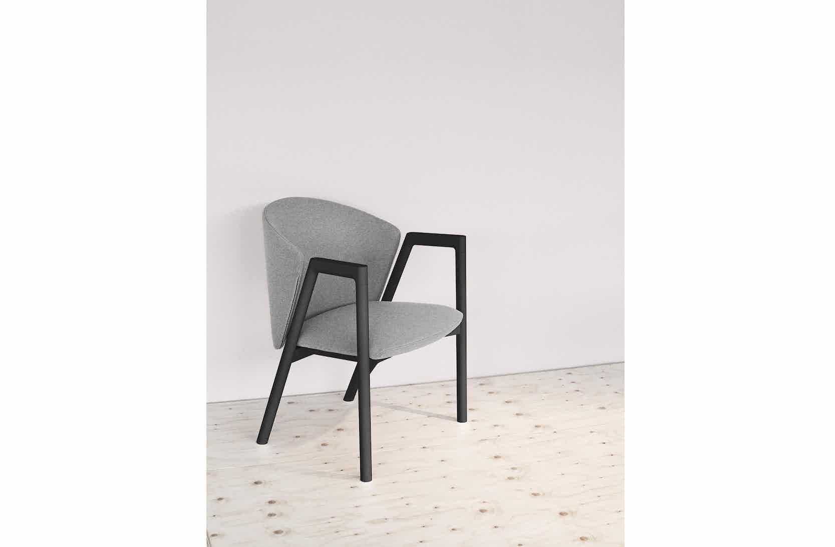 Bensen Grey Pub Chair