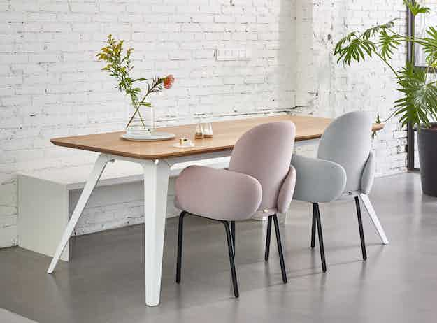 Puik furniture dost diner steel back insitu haute living