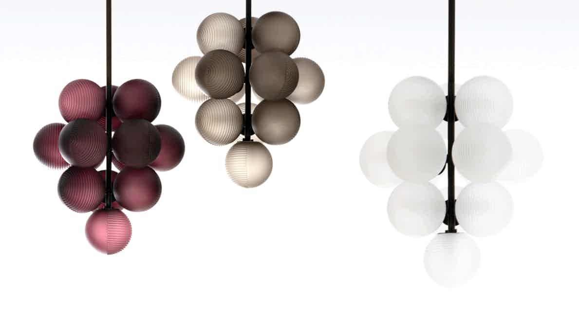 Pulpo furniture stellar grape pendant trio haute living