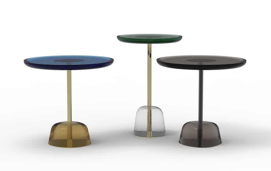 Pulpo pina side table trio haute living