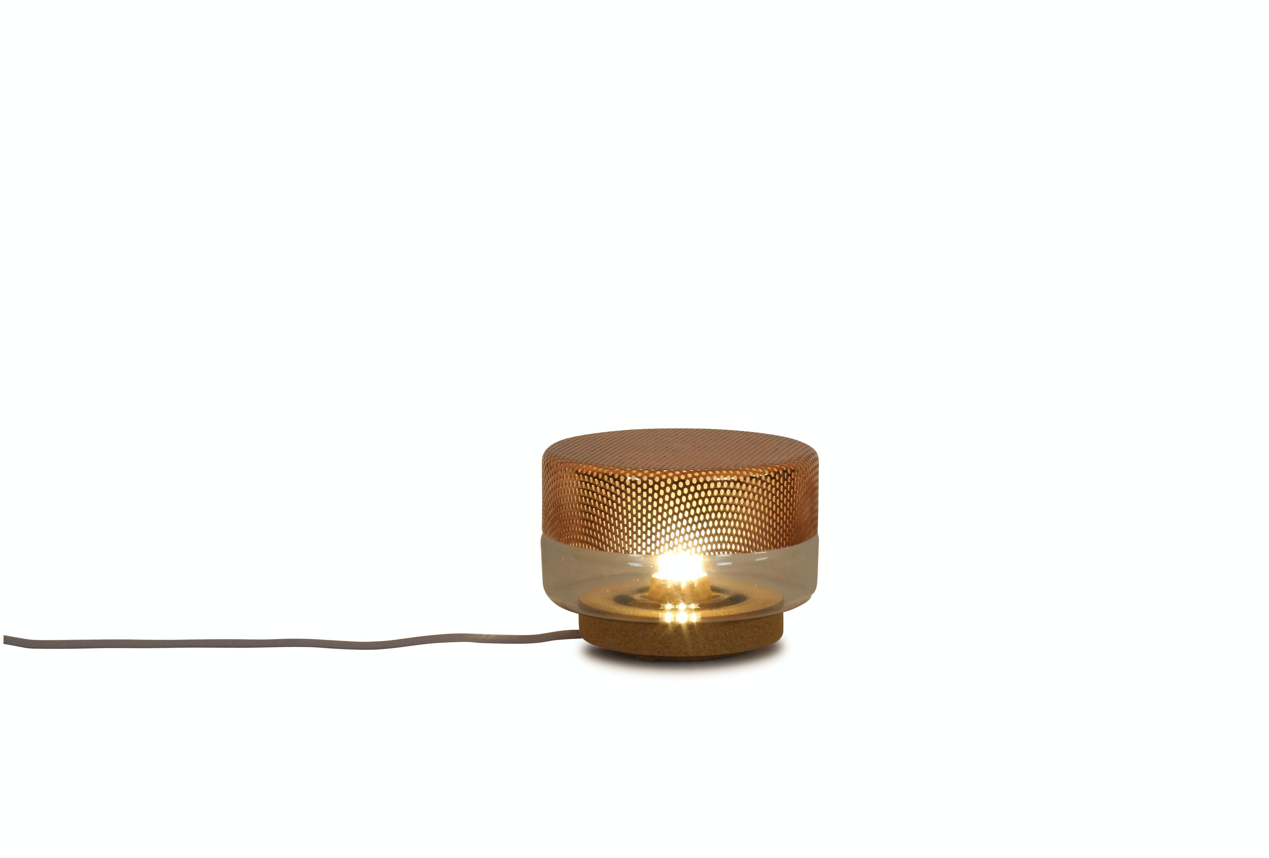 Small Light Drop Grau Kupfer