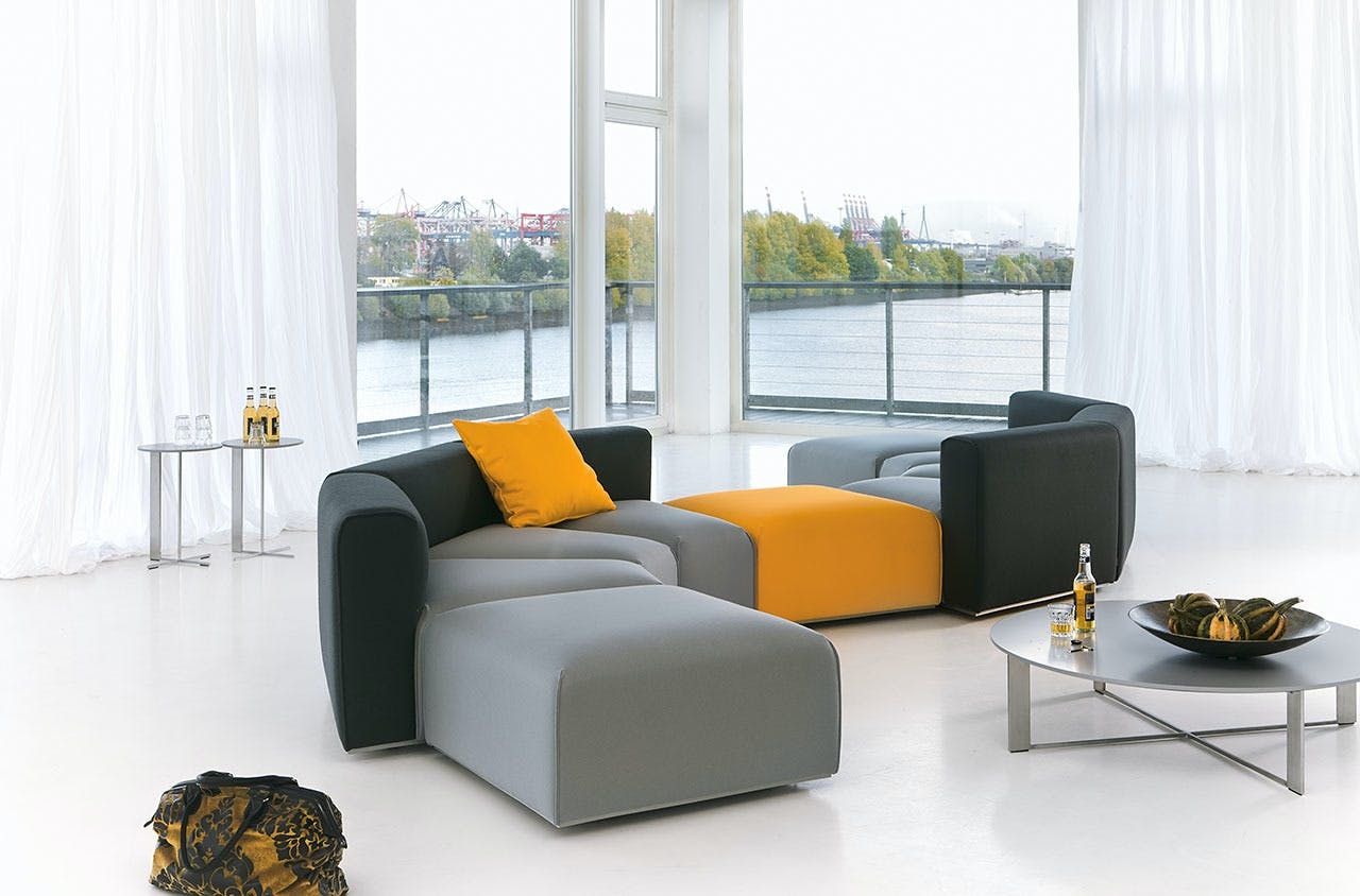 Jab Anstoetz Pure Elements Modular Sofa Colorful Insitu Haute Living