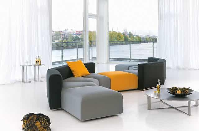 Jab Anstoetz Pure Elements Modular Sofa Colorful Insitu Haute Living