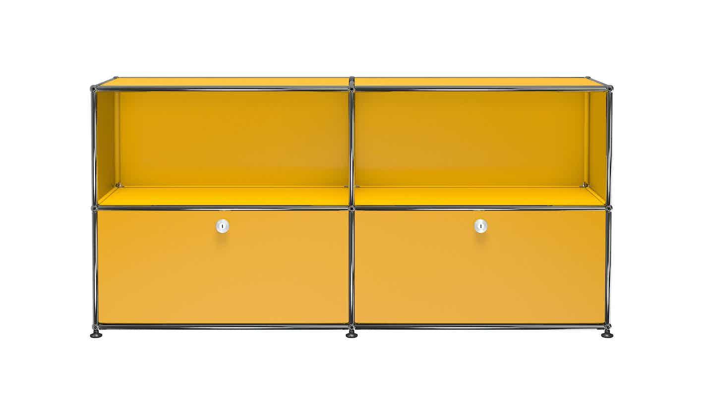 Usm-quick-ship-Haller-Credenza-C2A-yellow-haute-living